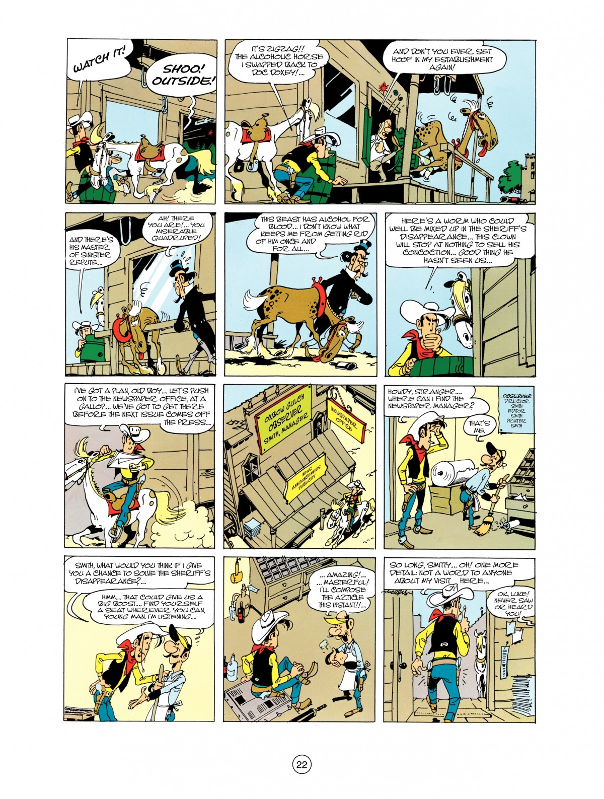 Read online A Lucky Luke Adventure comic -  Issue #38 - 22