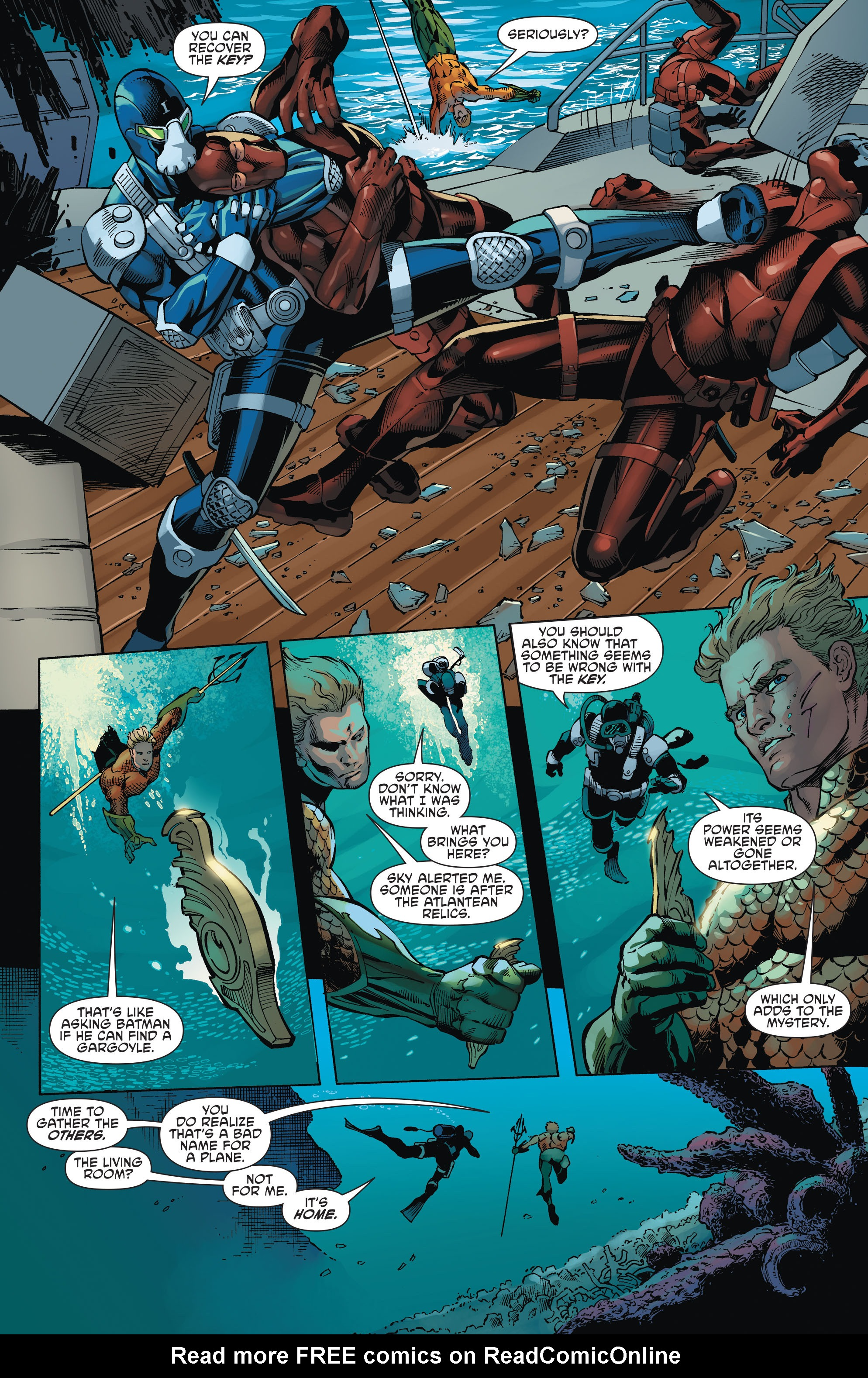 Read online Aquaman and the Others comic -  Issue #1 - 16