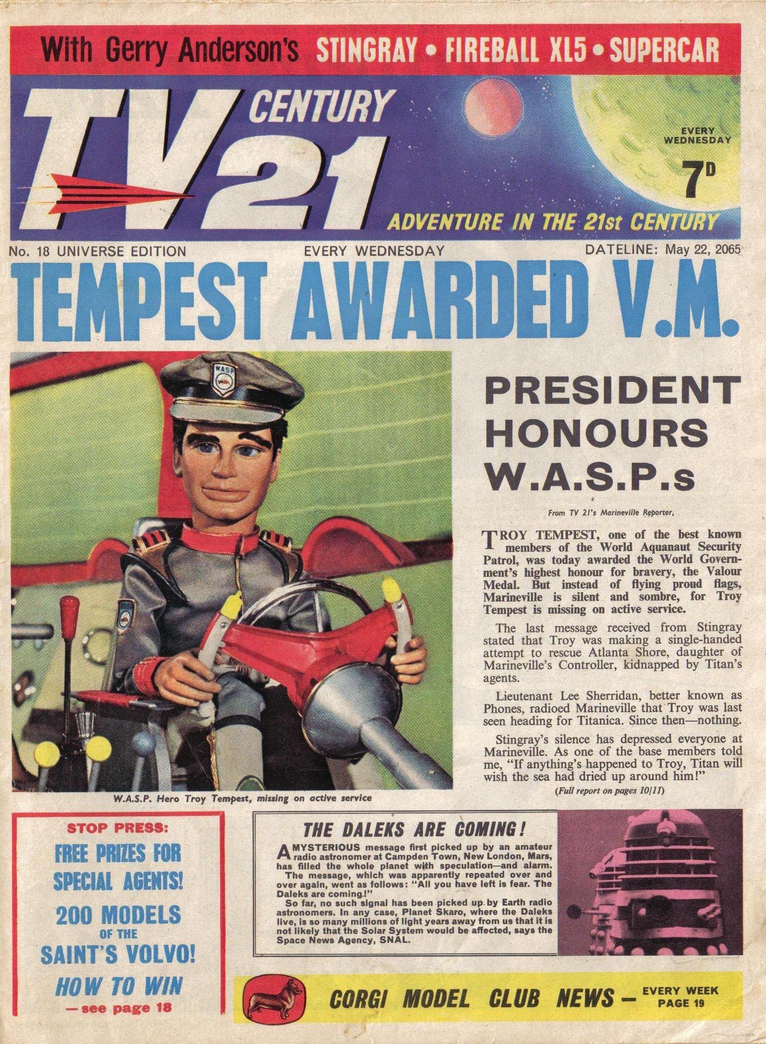 Read online TV Century 21 (TV 21) comic -  Issue #18 - 2