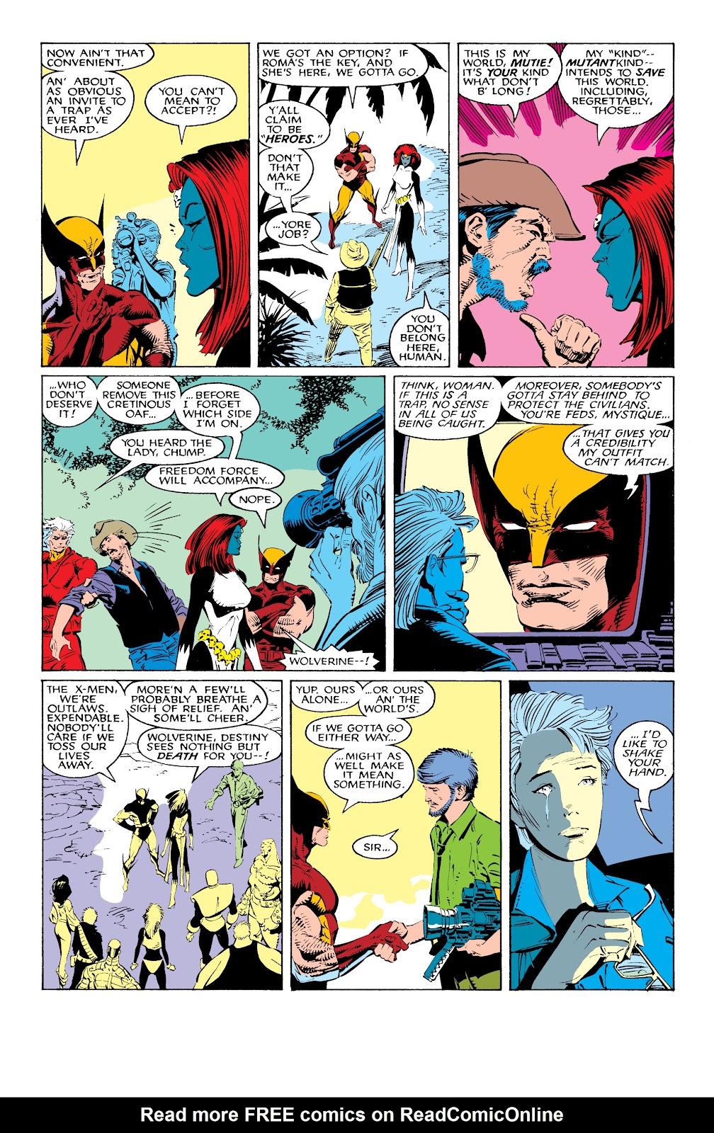 Read online X-Men Milestones: Fall of the Mutants comic -  Issue # TPB (Part 1) - 60