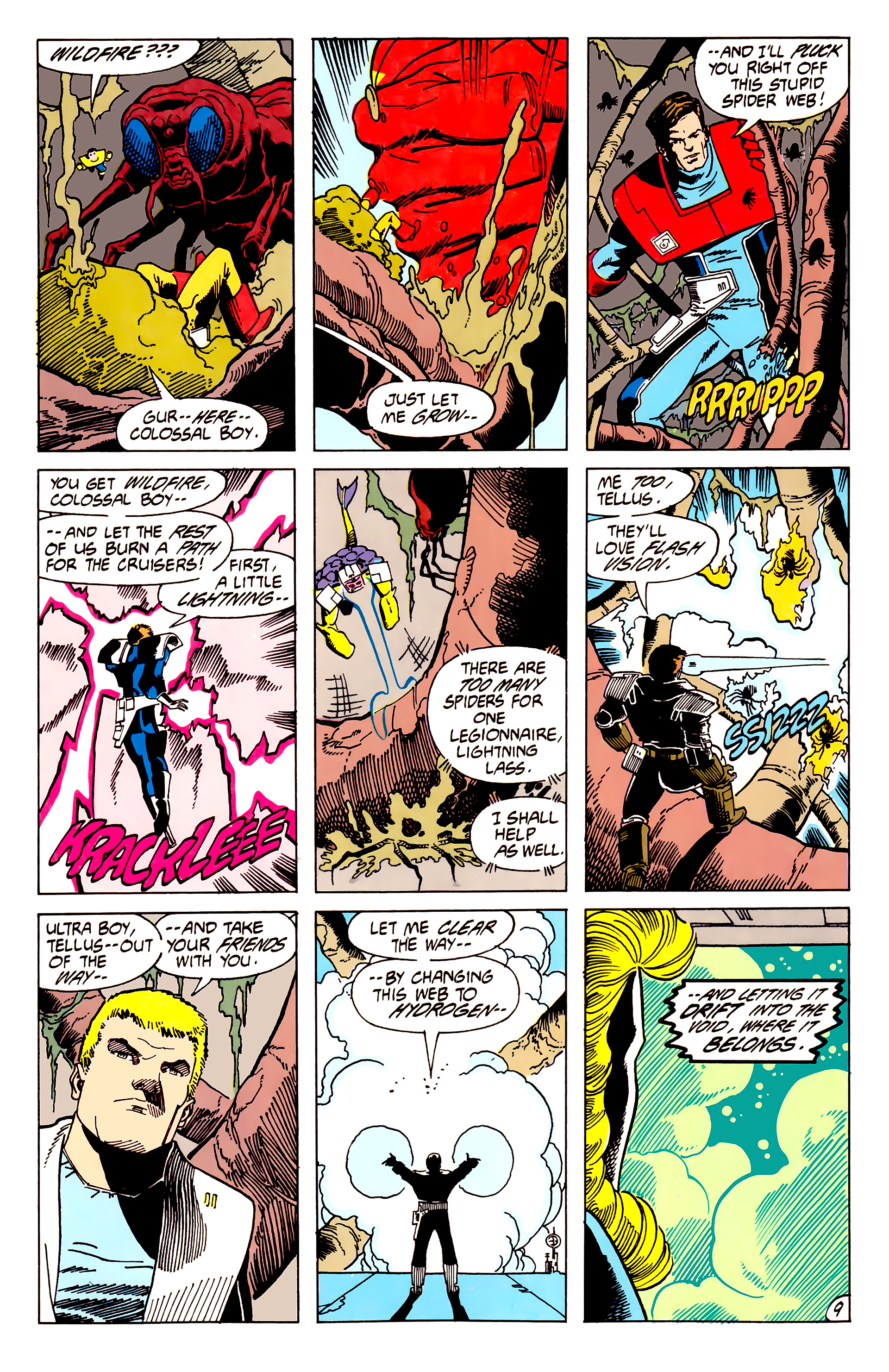 Legion of Super-Heroes (1984) 62 Page 9