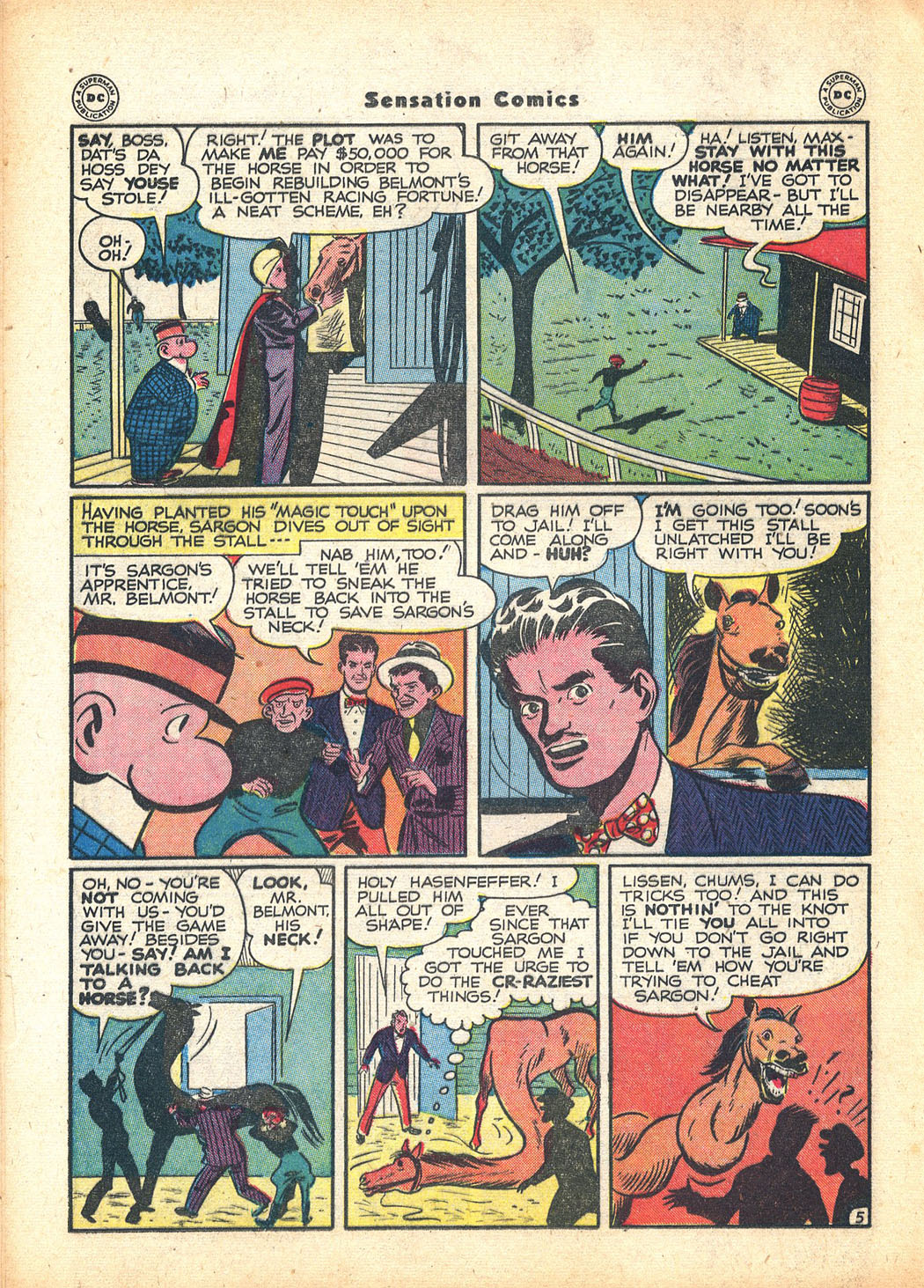 Read online Sensation (Mystery) Comics comic -  Issue #63 - 28