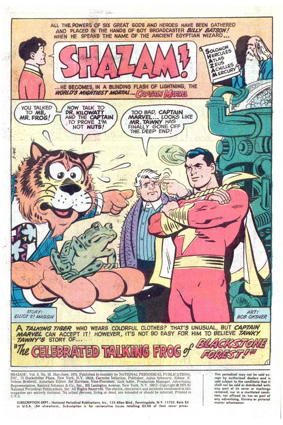 Read online Shazam! (1973) comic -  Issue #18 - 2