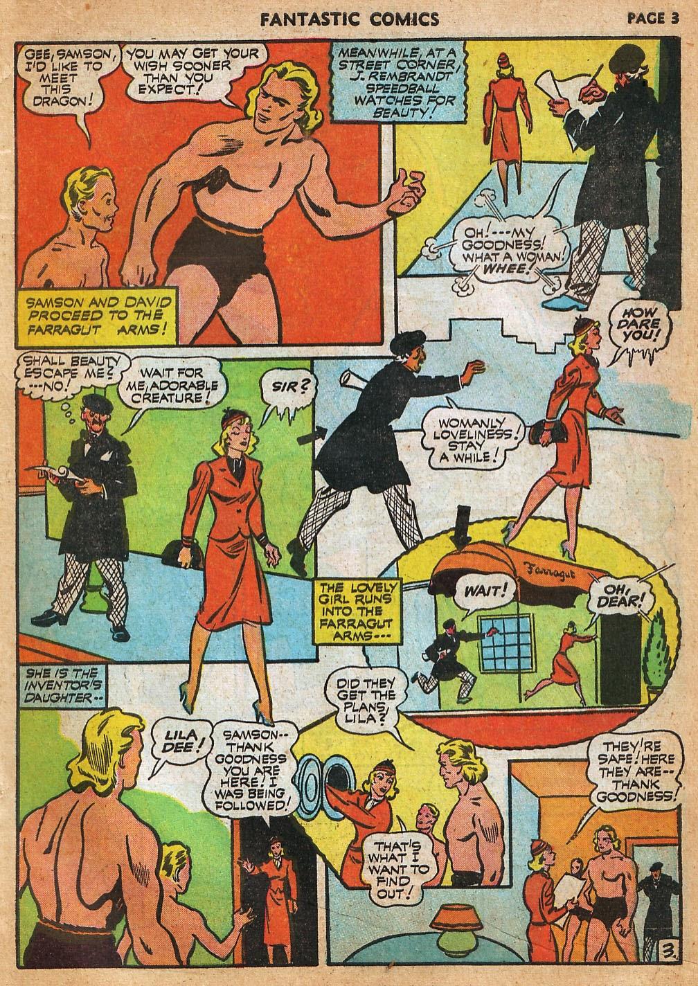 Read online Fantastic Comics comic -  Issue #22 - 5