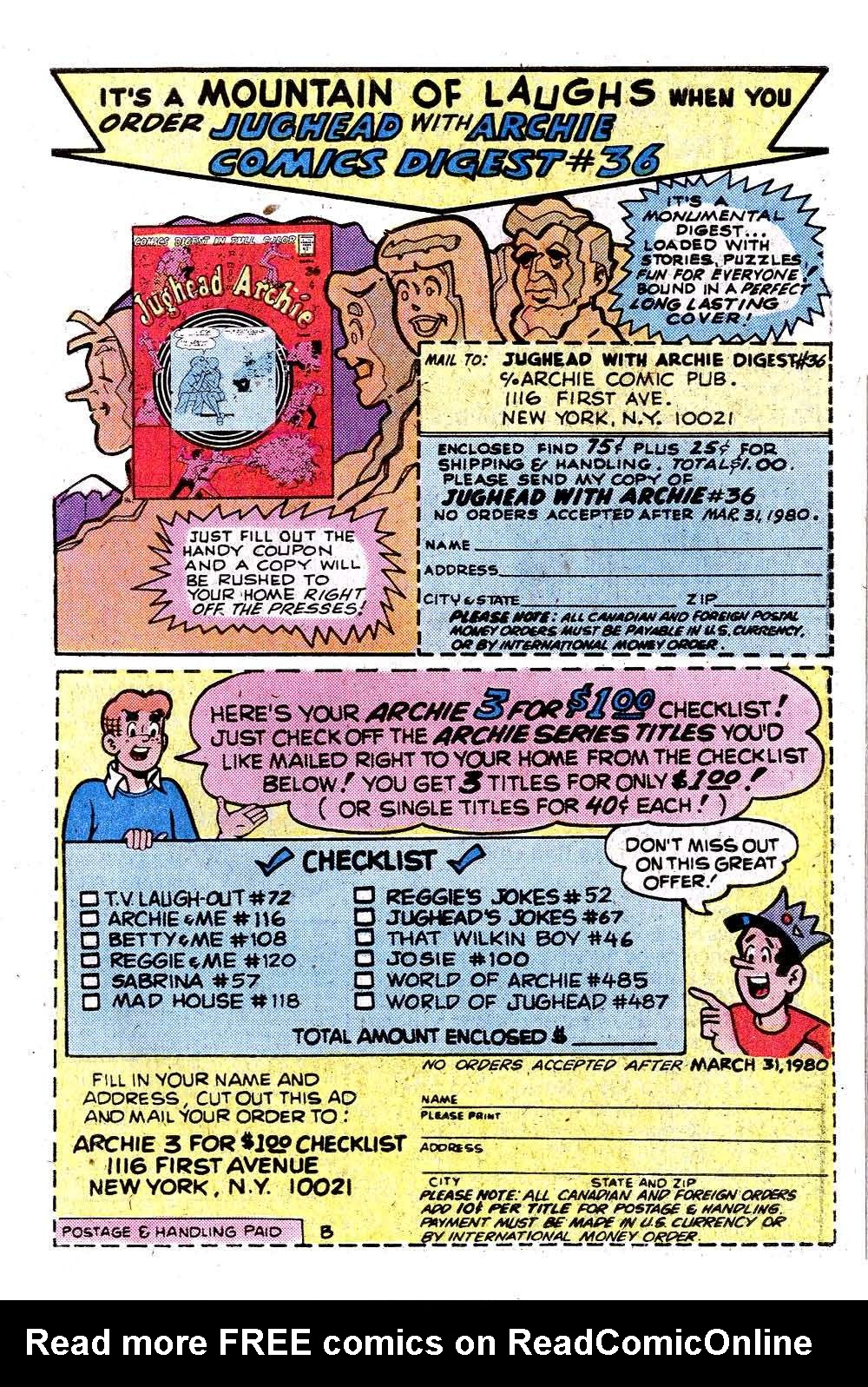 Read online Archie (1960) comic -  Issue #287 - 27