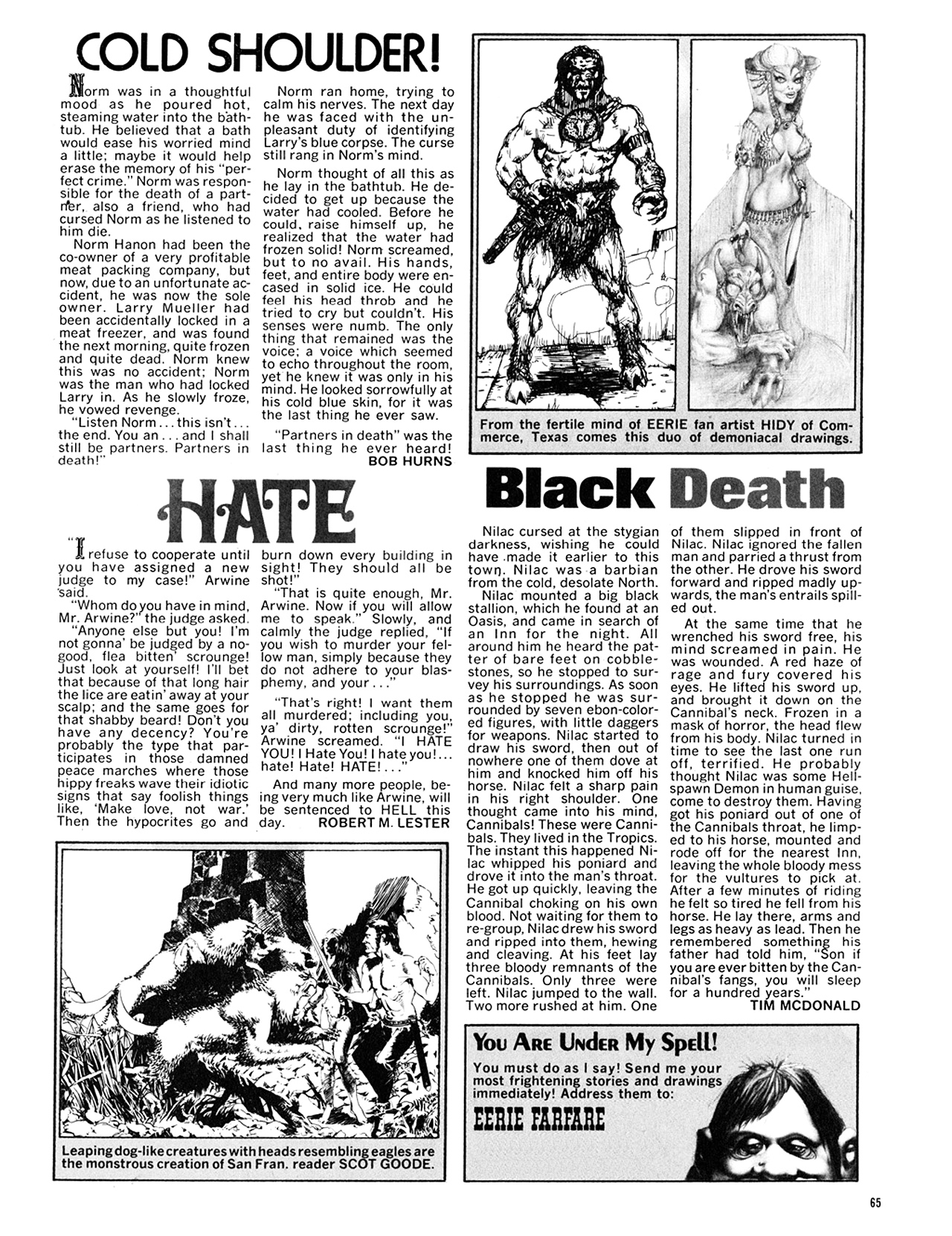 Read online Eerie Archives comic -  Issue # TPB 9 - 66
