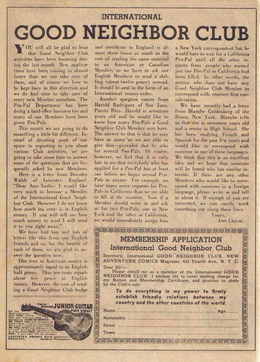 Read online Adventure Comics (1938) comic -  Issue #24 - 42