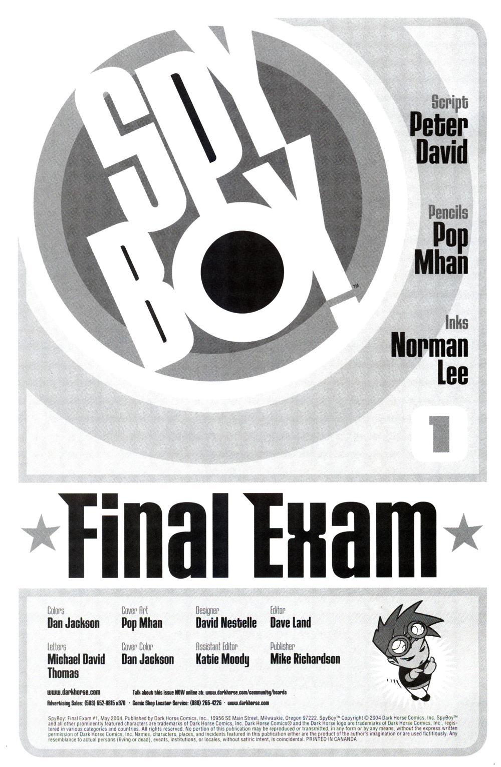 Read online SpyBoy: Final Exam comic -  Issue #1 - 2