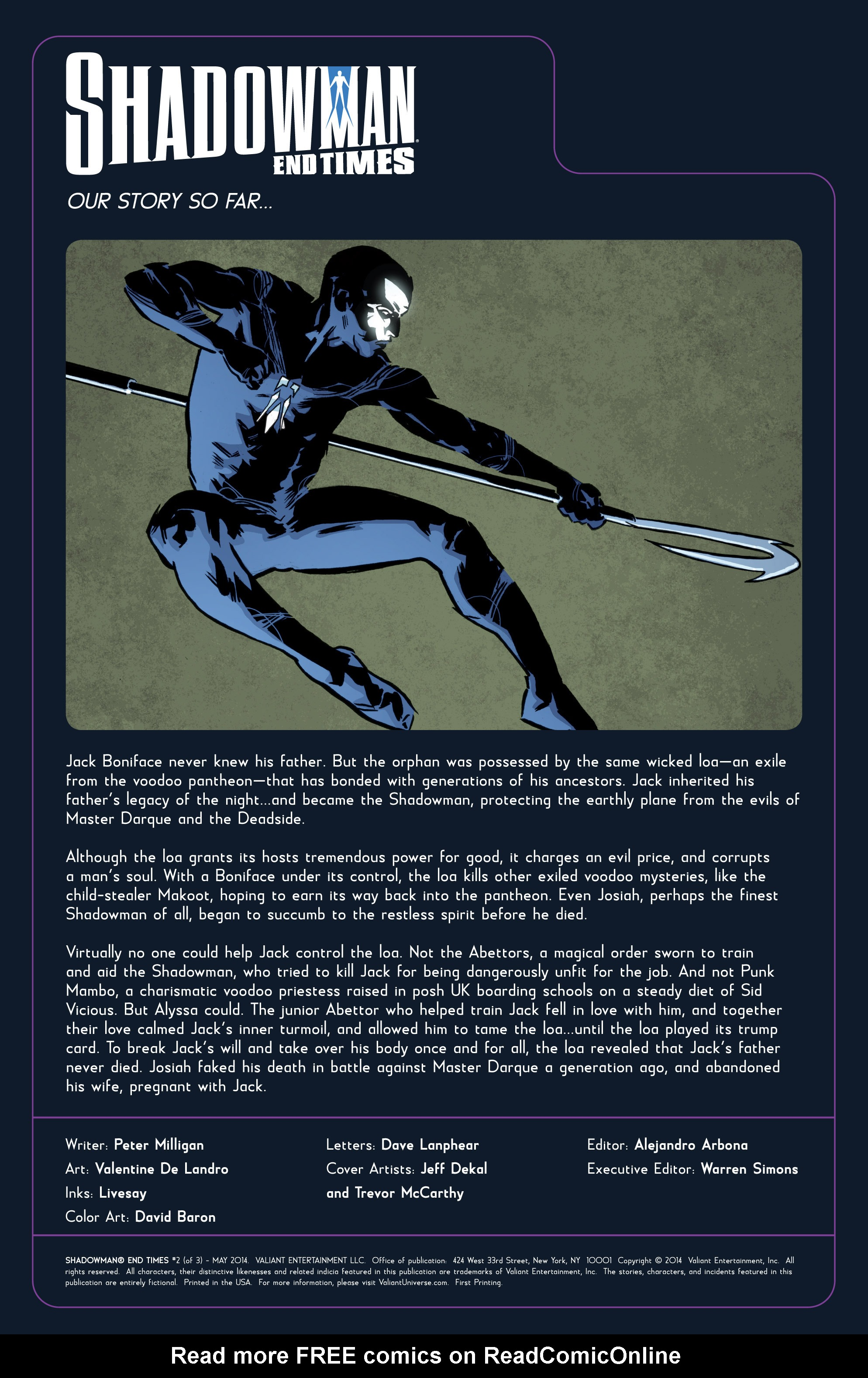 Read online Shadowman: End Times comic -  Issue #2 - 2