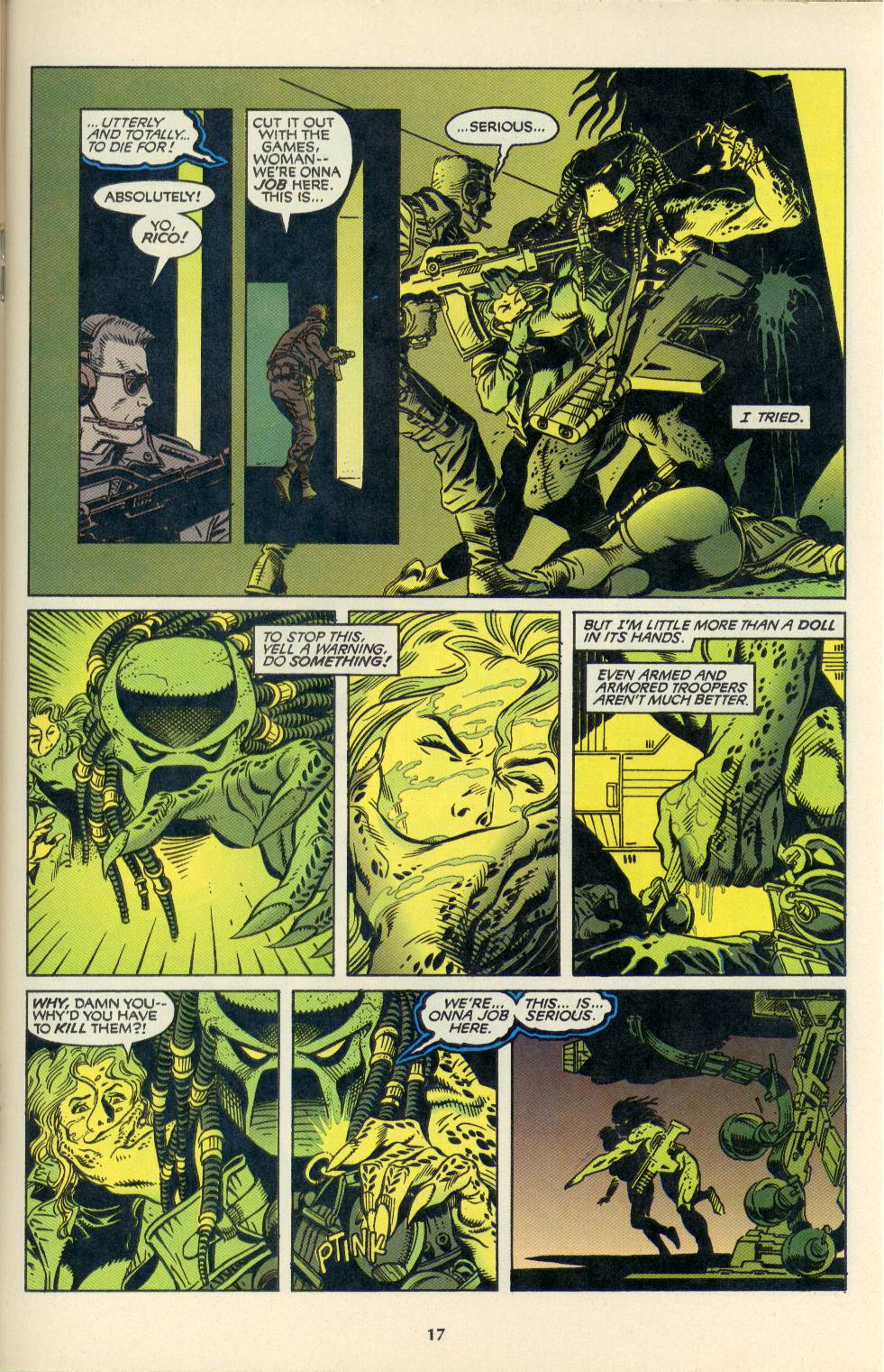 Read online Aliens/Predator: The Deadliest of the Species comic -  Issue #4 - 18