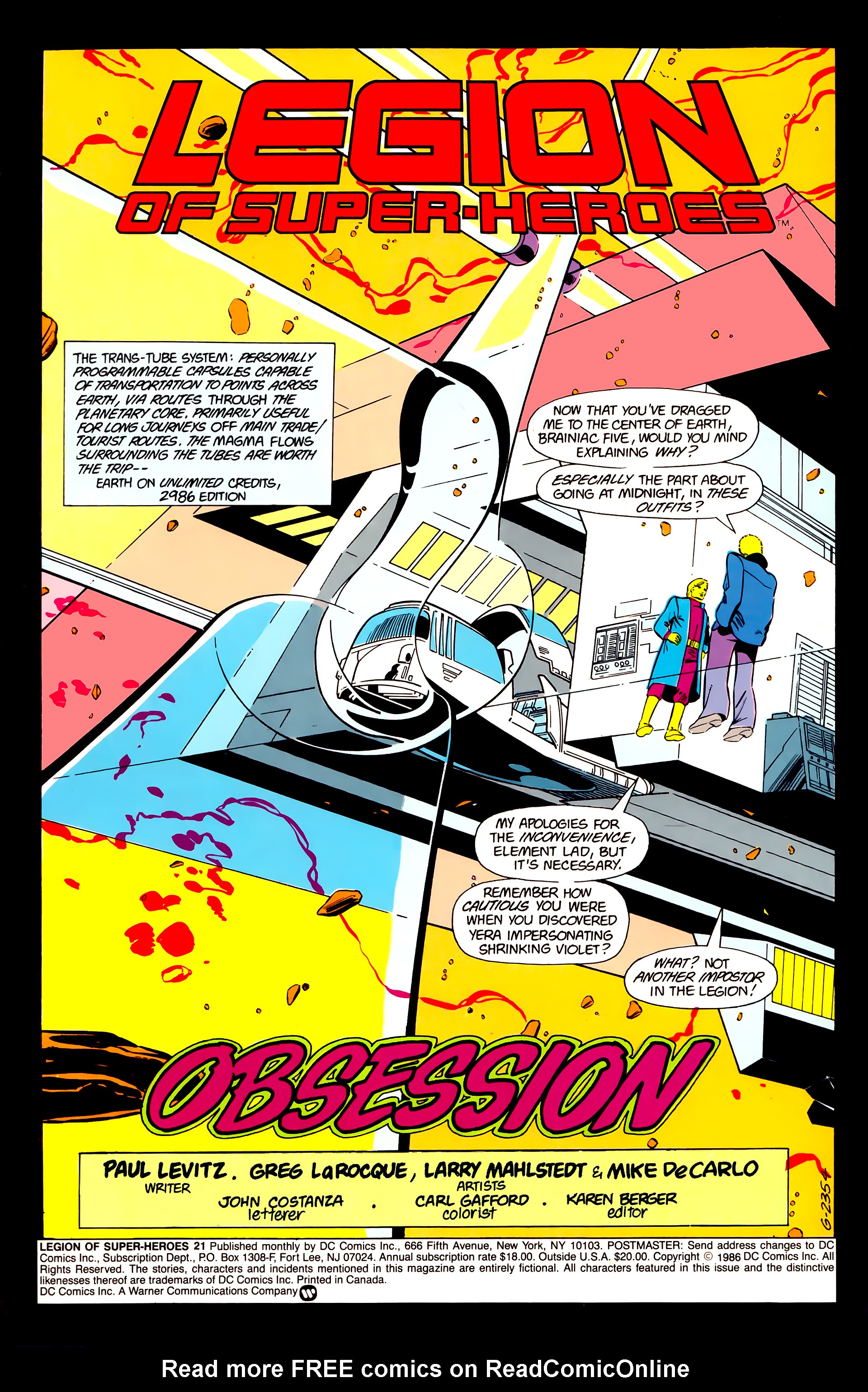 Legion of Super-Heroes (1984) 21 Page 2