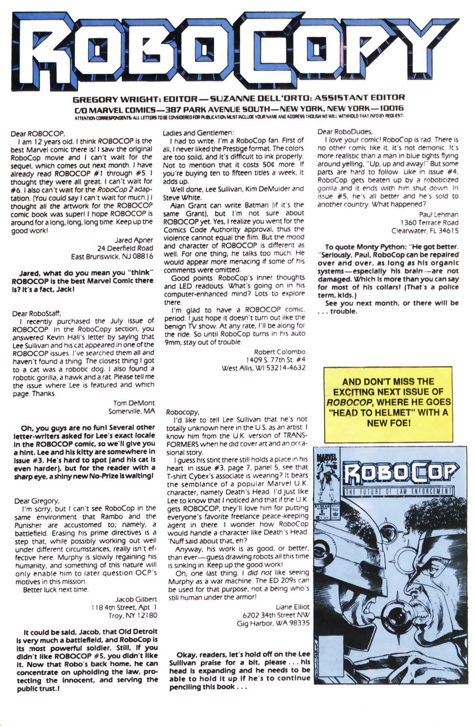 Read online Robocop (1990) comic -  Issue #8 - 24