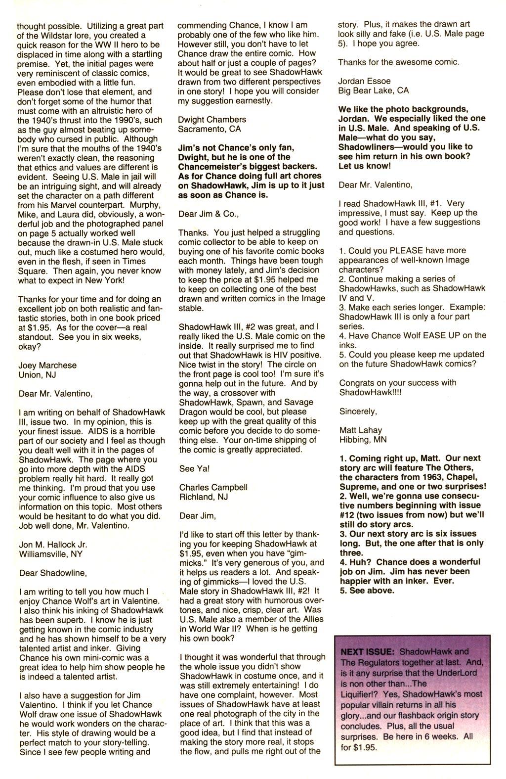 Read online ShadowHawk comic -  Issue #10 - 26
