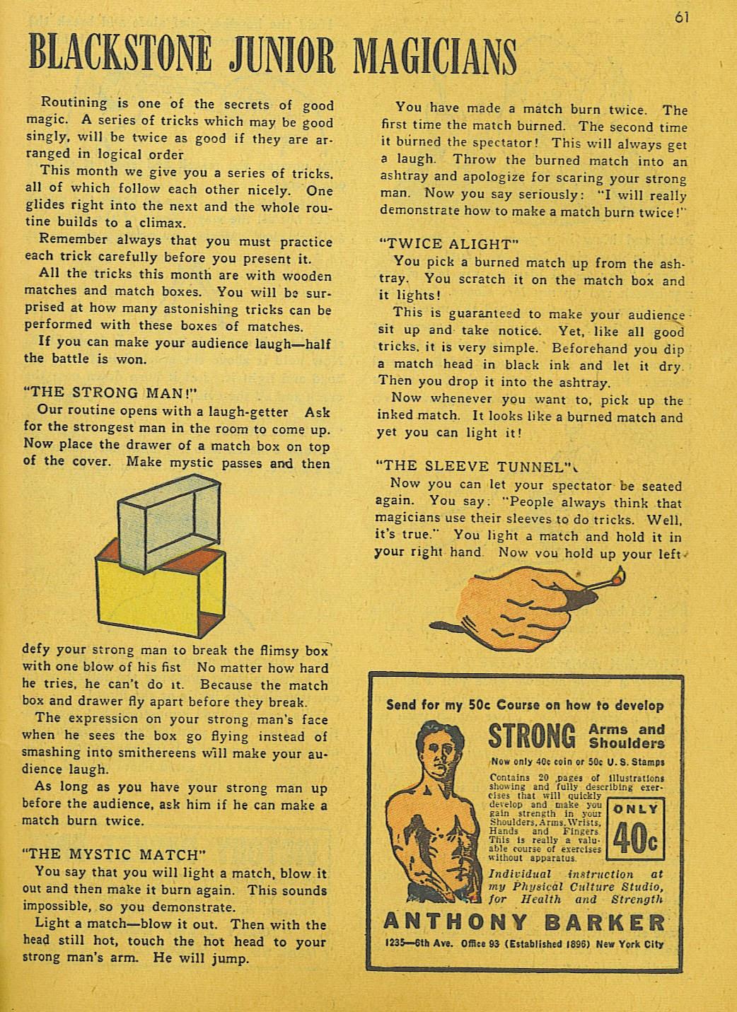 Read online Super-Magician Comics comic -  Issue #10 - 61