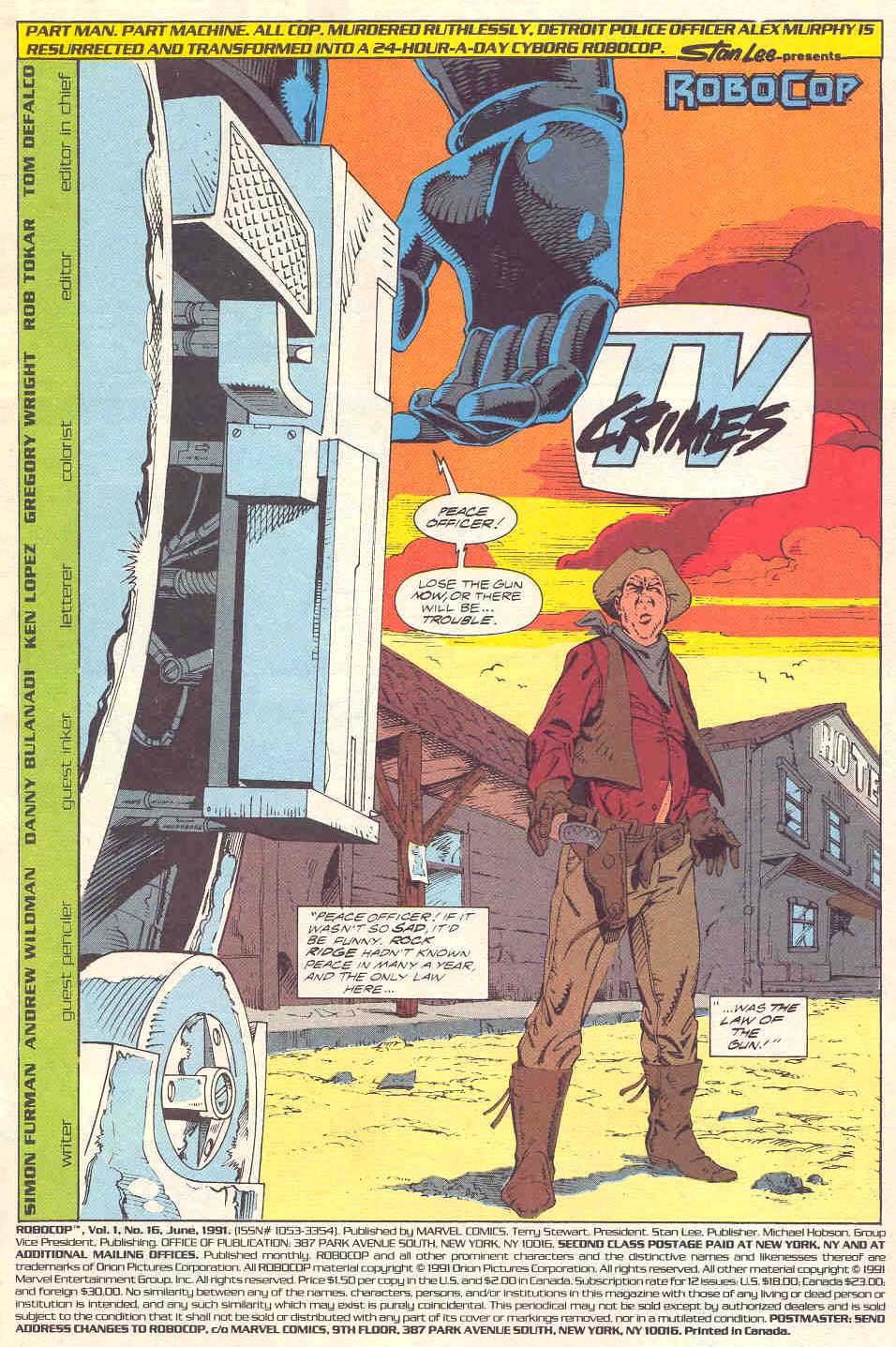 Read online Robocop (1990) comic -  Issue #16 - 2