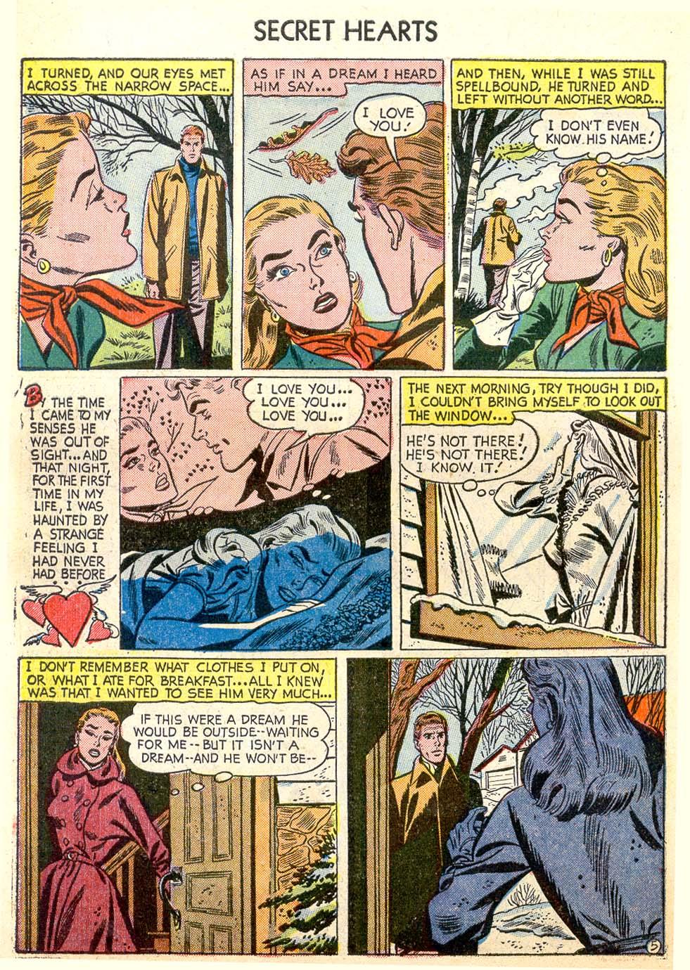 Read online Secret Hearts comic -  Issue #26 - 30