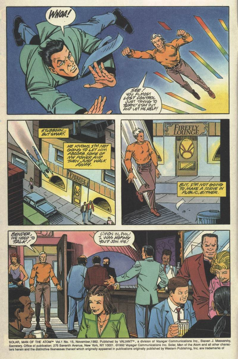 Read online Solar, Man of the Atom comic -  Issue #15 - 3