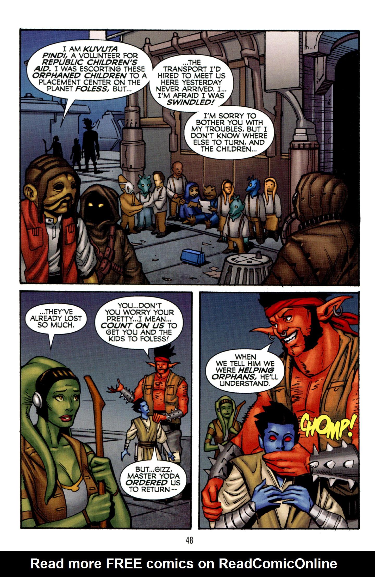 Read online Star Wars: The Clone Wars - Strange Allies comic -  Issue # Full - 49