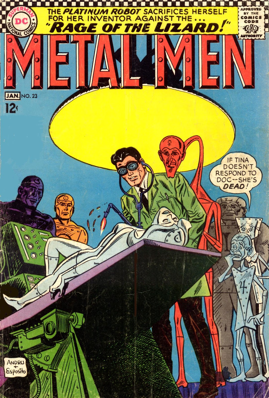 Metal Men (1963) issue 23 - Page 1
