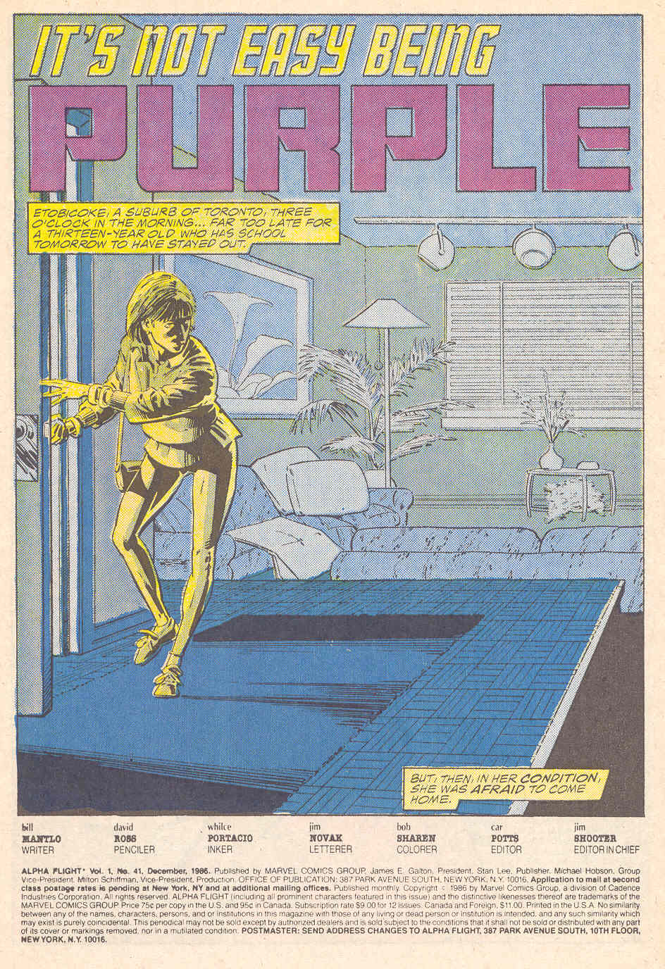 Read online Alpha Flight (1983) comic -  Issue #41 - 2