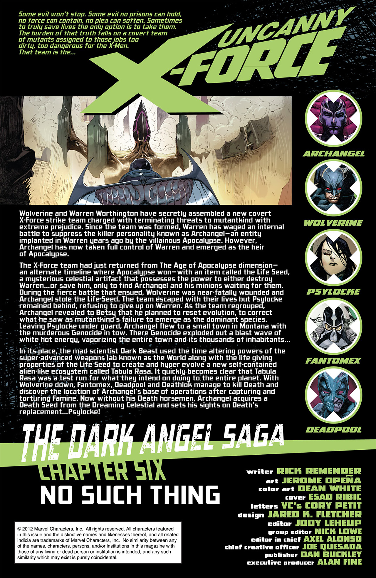 Read online Uncanny X-Force (2010) comic -  Issue #16 - 2