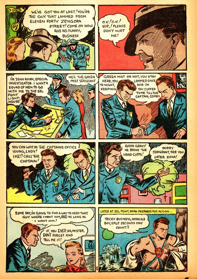 Read online Amazing Man Comics comic -  Issue #12 - 17