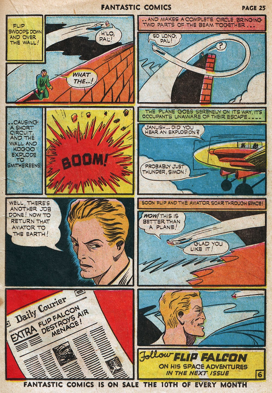 Read online Fantastic Comics comic -  Issue #18 - 27