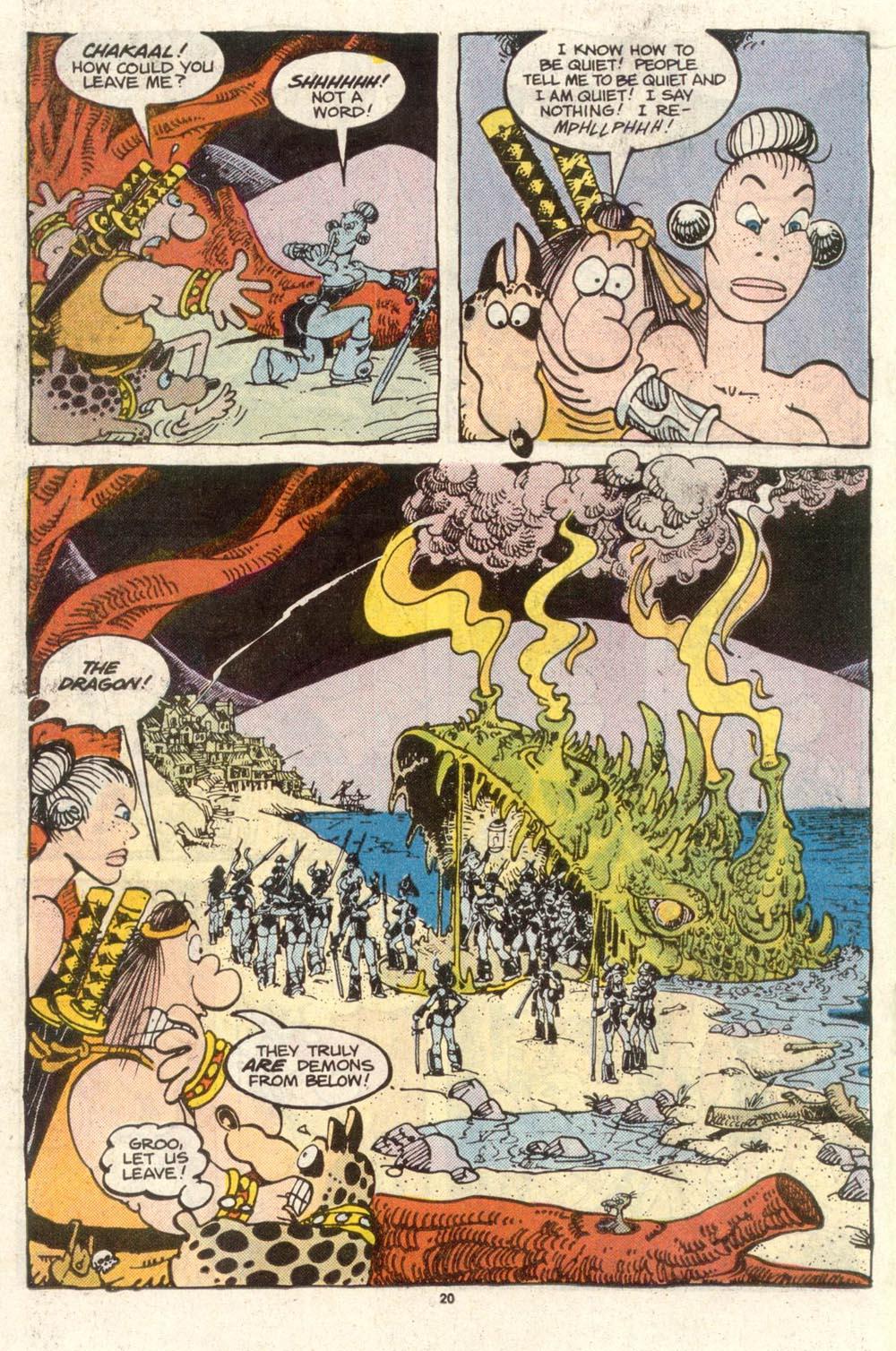 Read online Sergio Aragonés Groo the Wanderer comic -  Issue #50 - 20