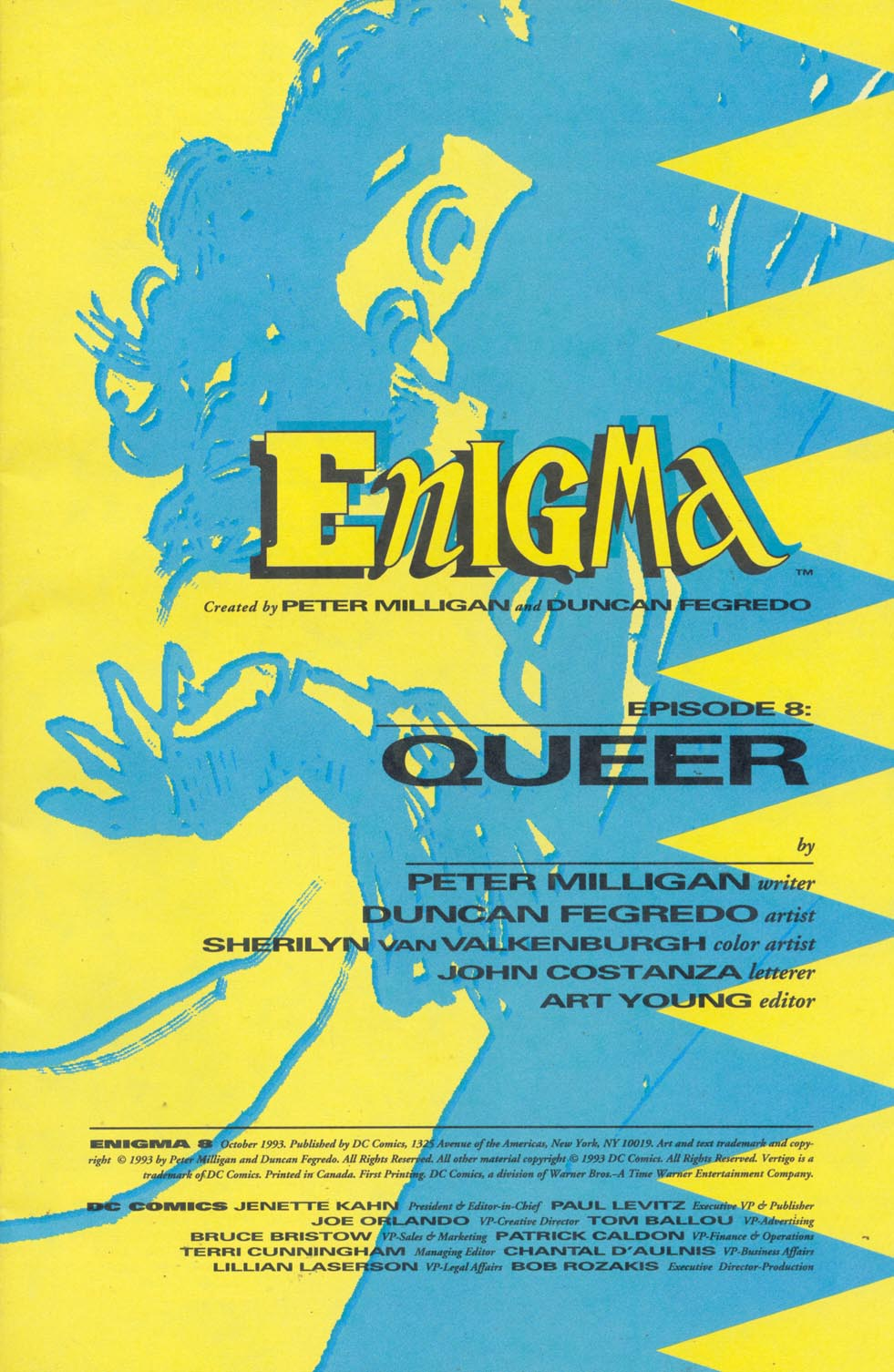 Read online Enigma comic -  Issue #8 - 2