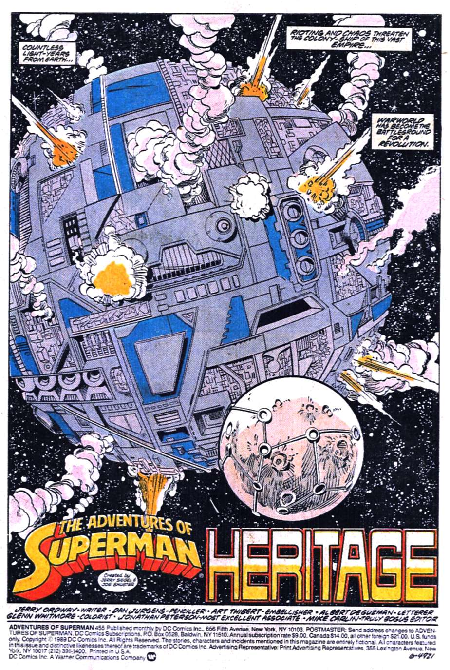 Read online Adventures of Superman (1987) comic -  Issue #455 - 2