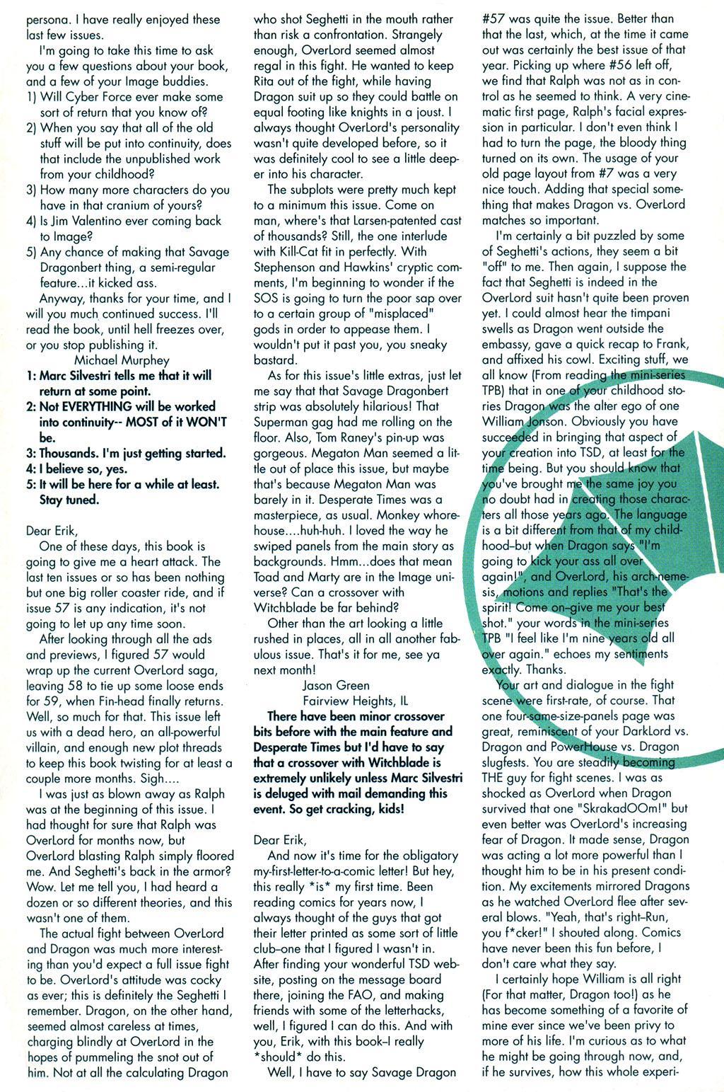 The Savage Dragon (1993) Issue #59 #62 - English 27