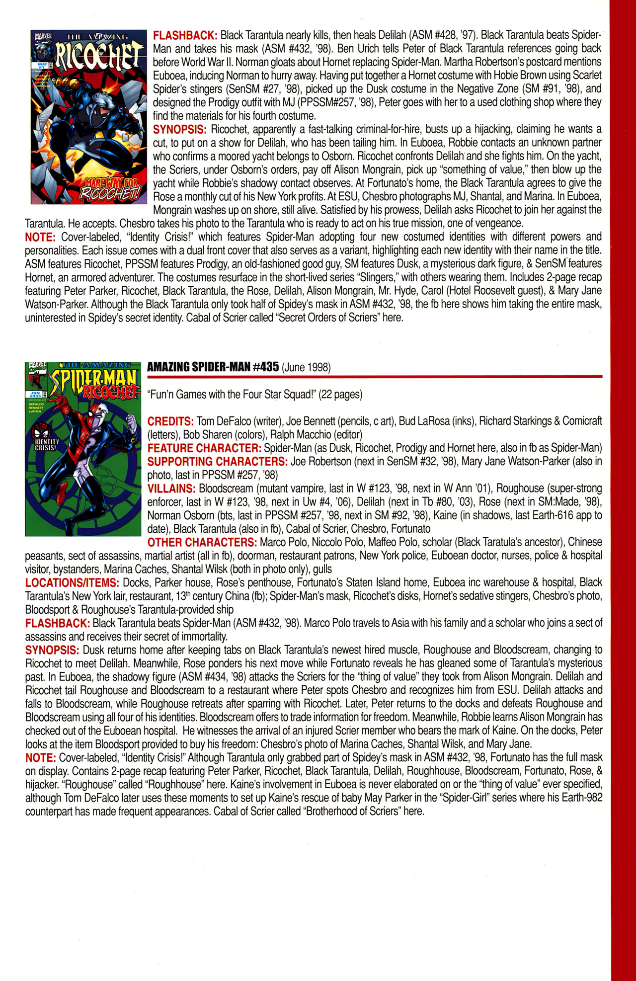 Read online Official Index to the Marvel Universe comic -  Issue #10 - 23