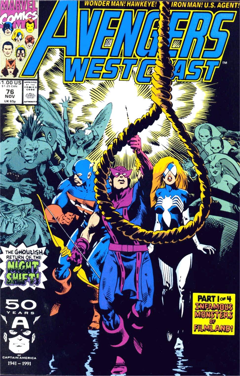 Avengers West Coast (1989) 76 Page 1