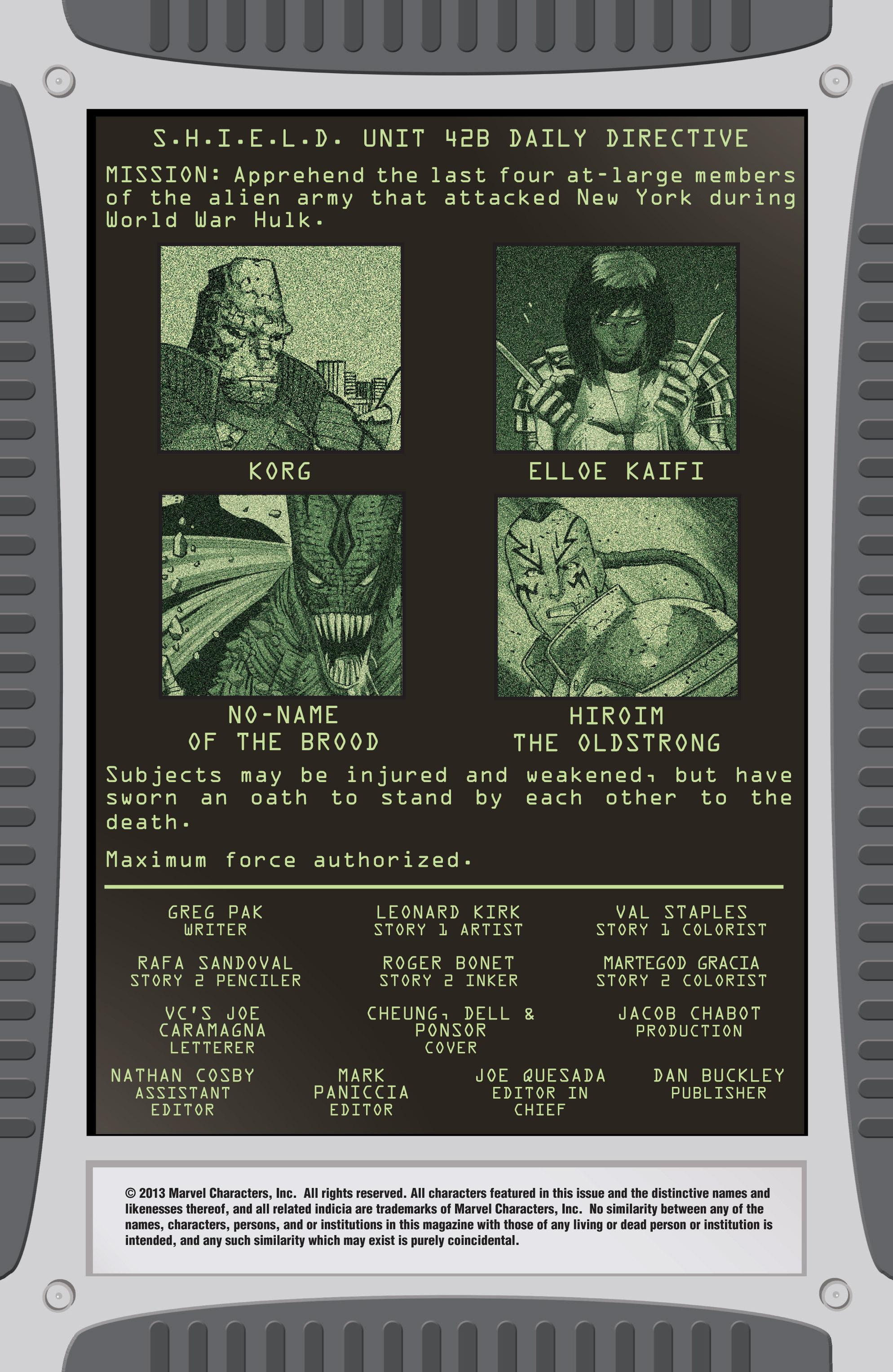 Read online World War Hulk Aftersmash: Warbound, Vol. 1 comic -  Issue #1 - 2
