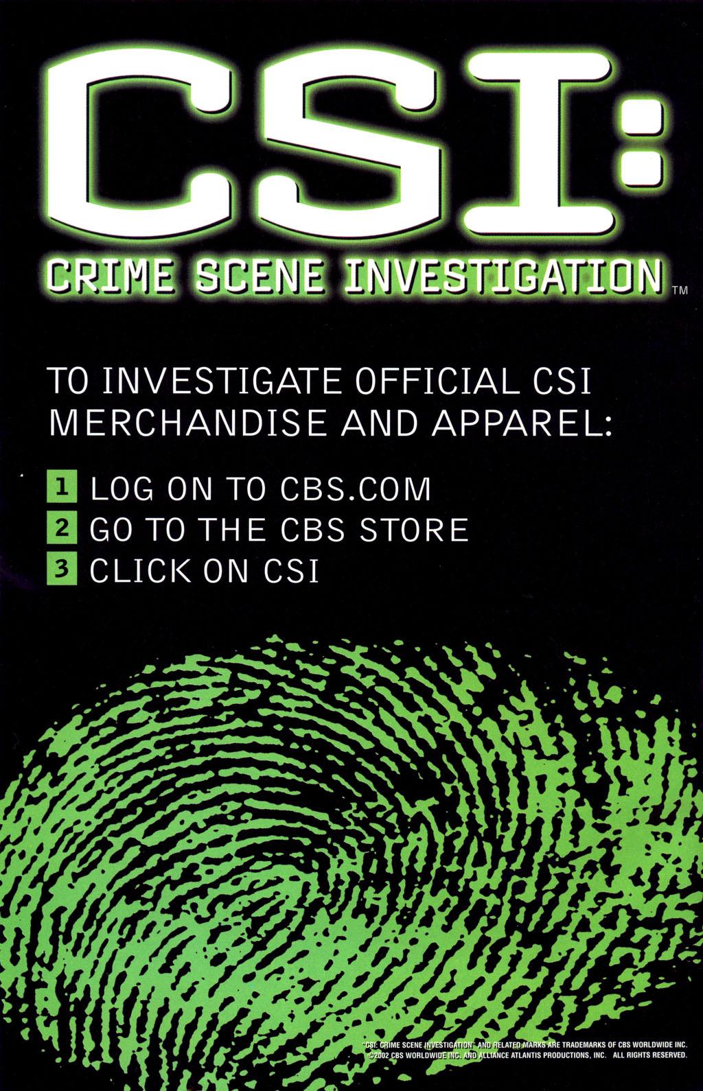 Read online CSI: Crime Scene Investigation: Bad Rap comic -  Issue #4 - 33