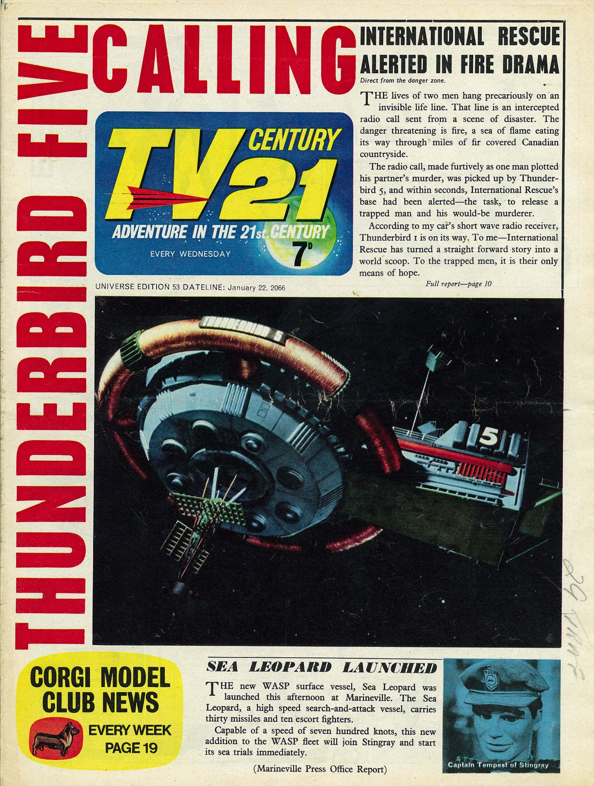 Read online TV Century 21 (TV 21) comic -  Issue #53 - 1