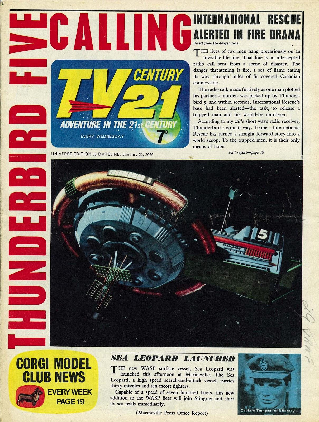 TV Century 21 (TV 21) issue 53 - Page 1