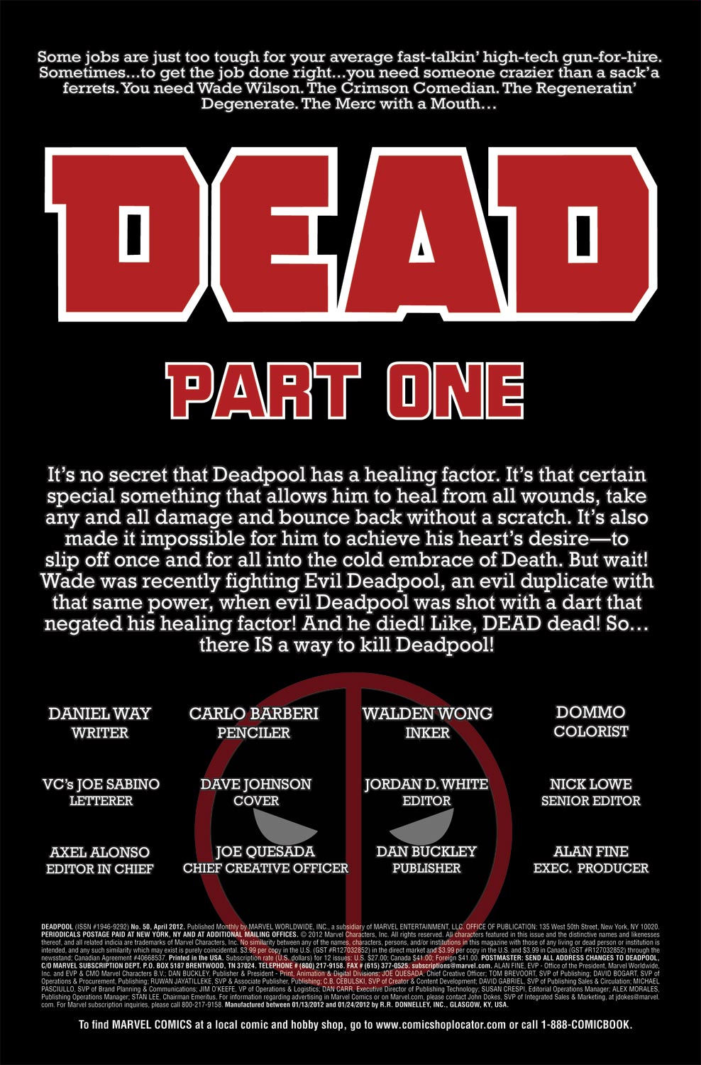 Read online Deadpool (2008) comic -  Issue #50 - 4