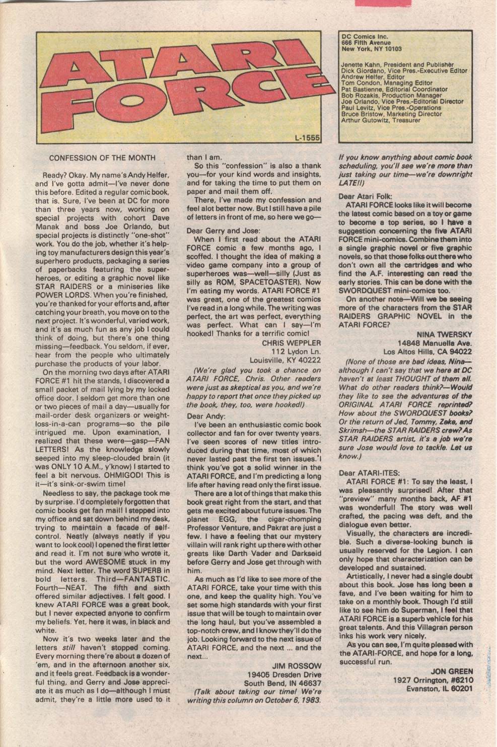 Read online Atari Force (1984) comic -  Issue #3 - 26
