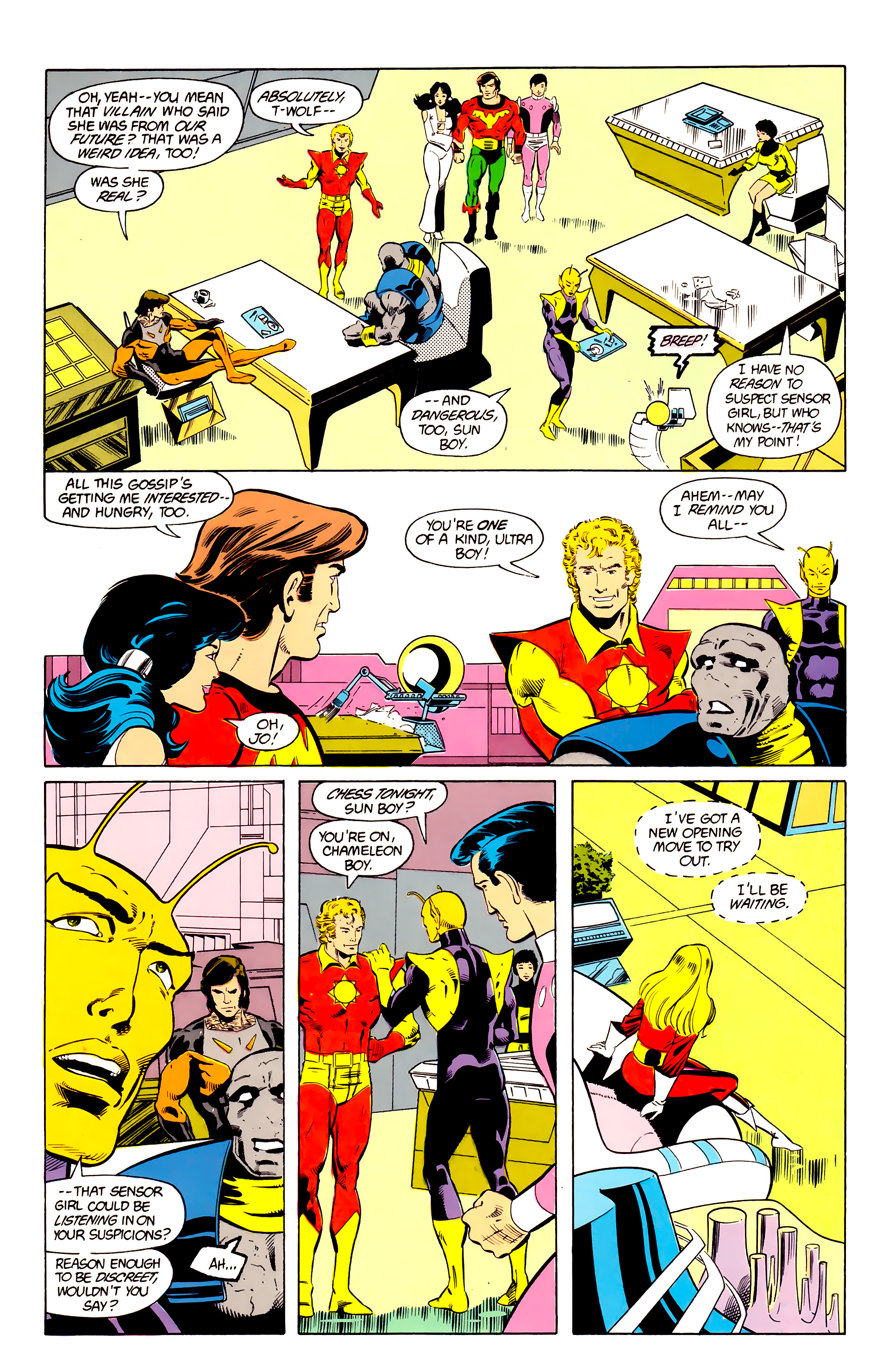 Legion of Super-Heroes (1984) 24 Page 3