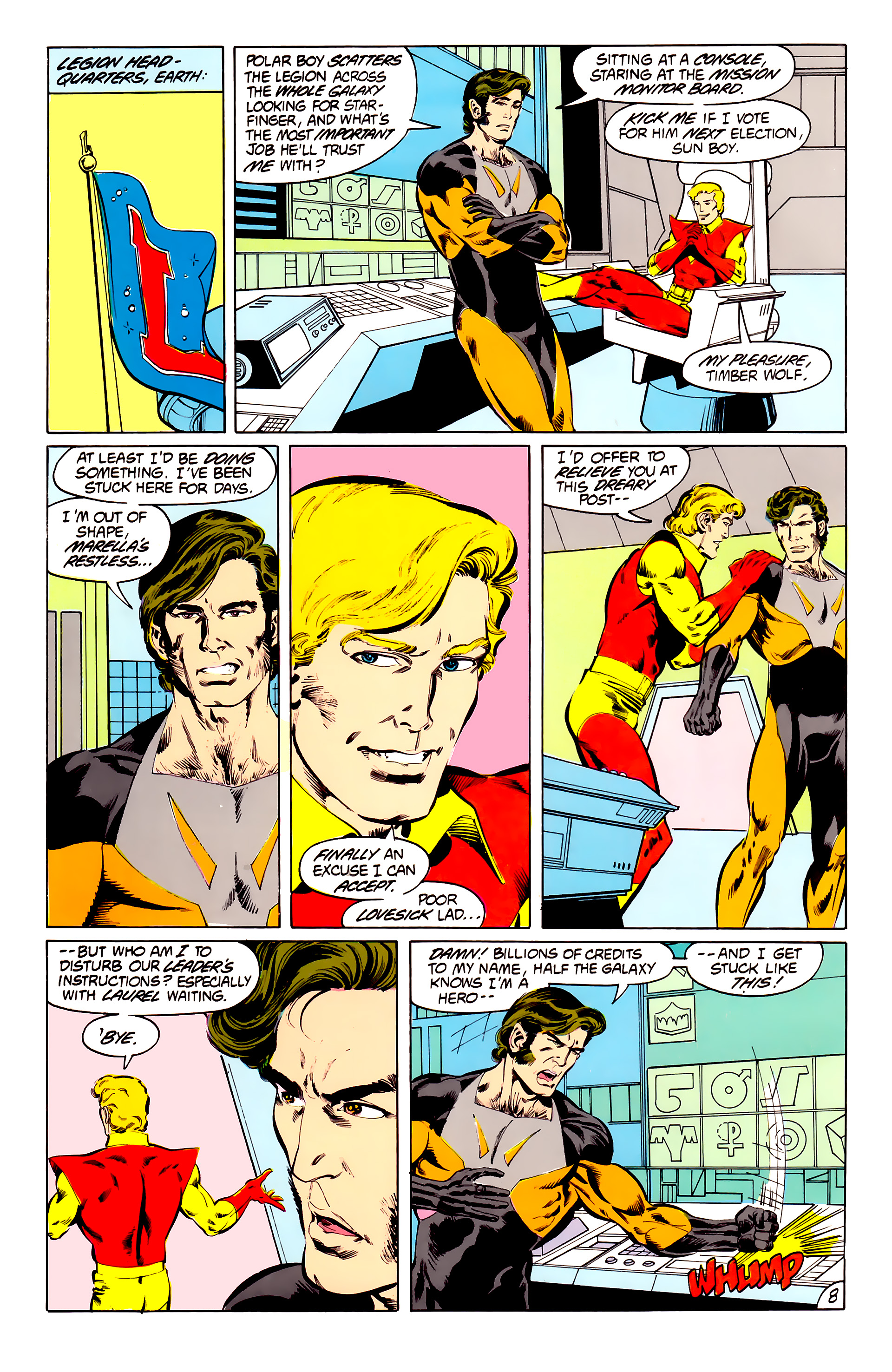 Legion of Super-Heroes (1984) 41 Page 8