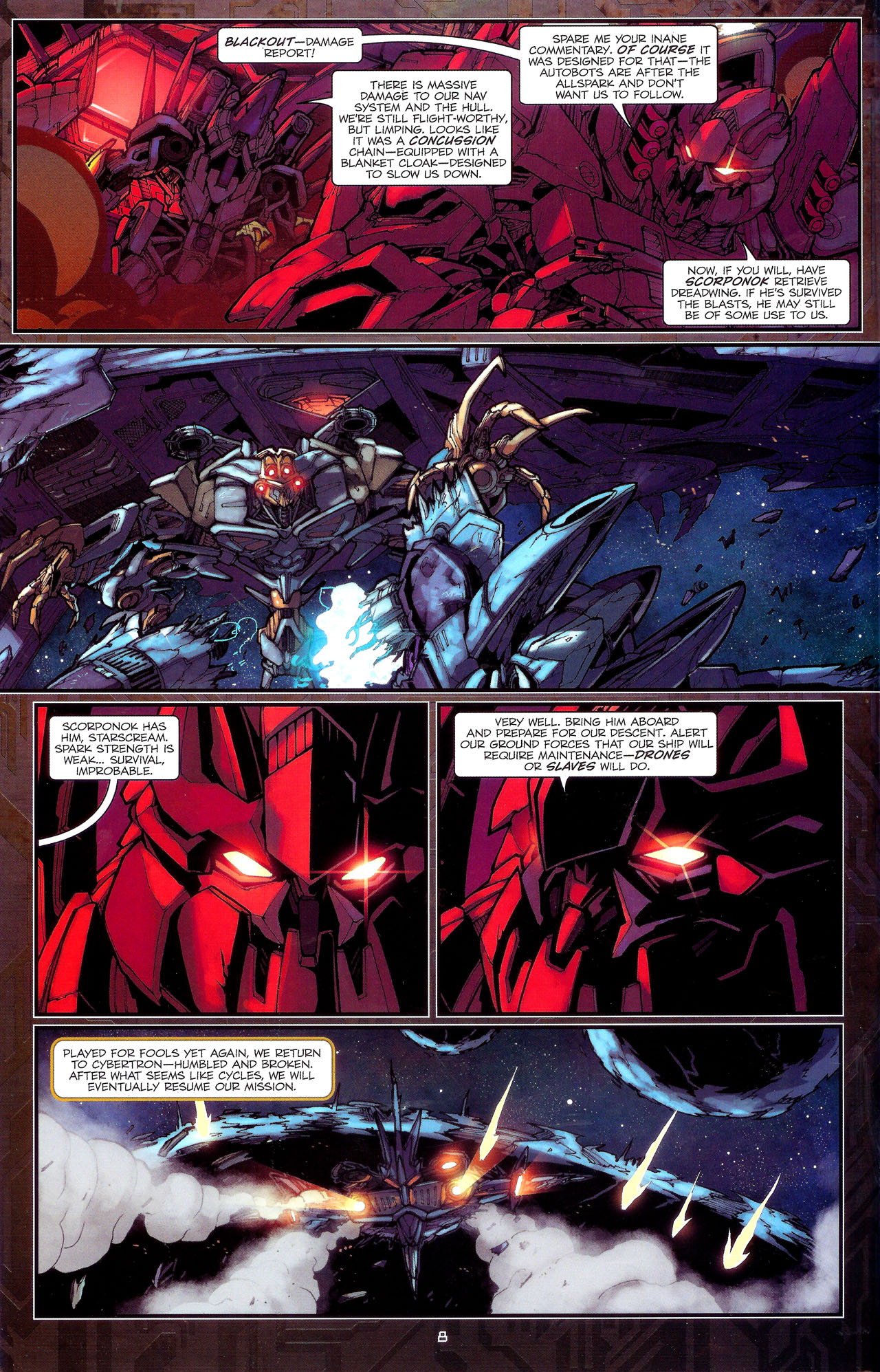 Read online Transformers: The Reign of Starscream comic -  Issue #1 - 11