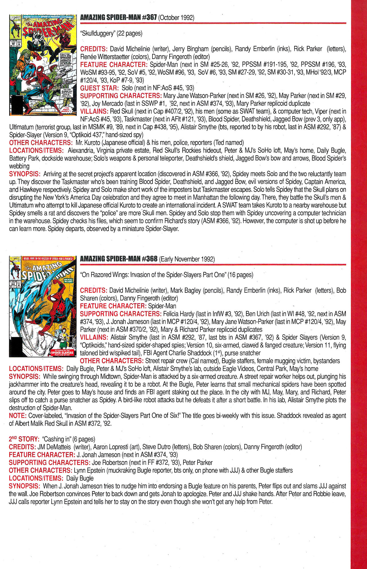 Read online Official Index to the Marvel Universe comic -  Issue #9 - 3