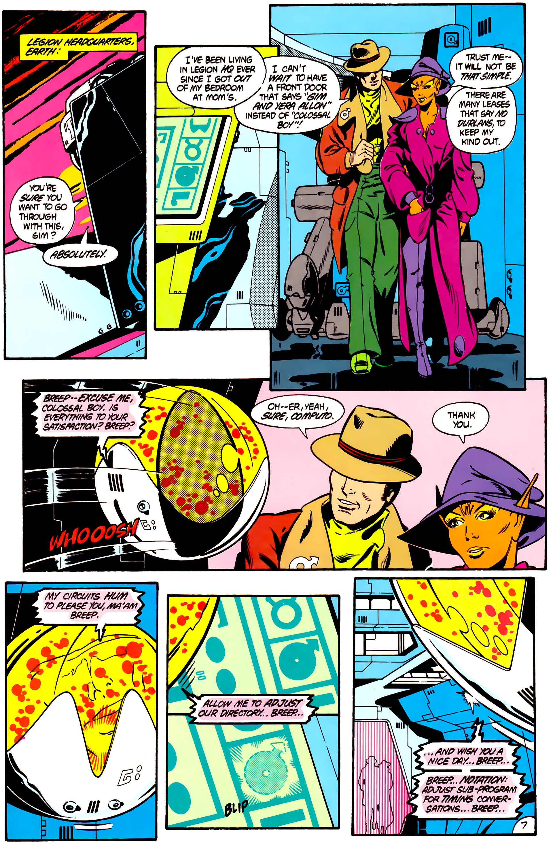 Legion of Super-Heroes (1984) 1 Page 8