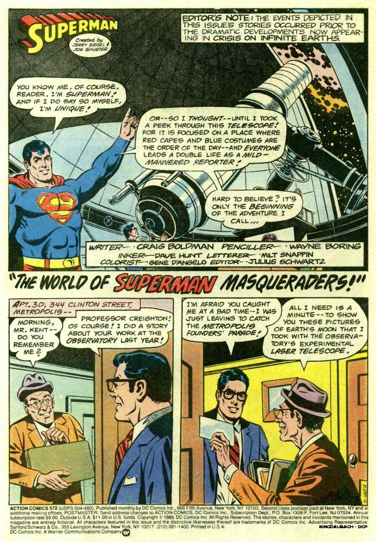 Action Comics (1938) 572 Page 1