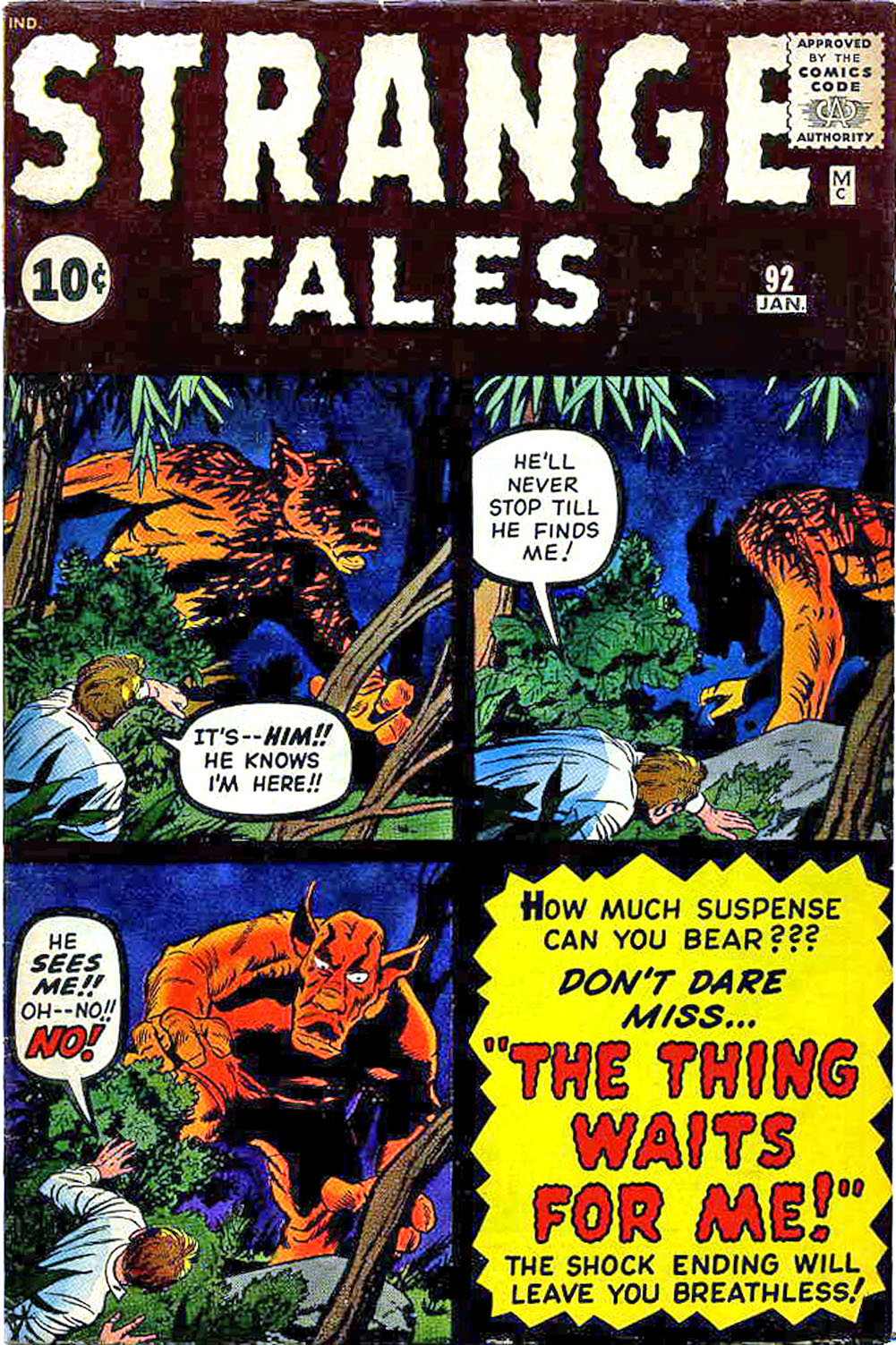 Strange Tales (1951) issue 92 - Page 1