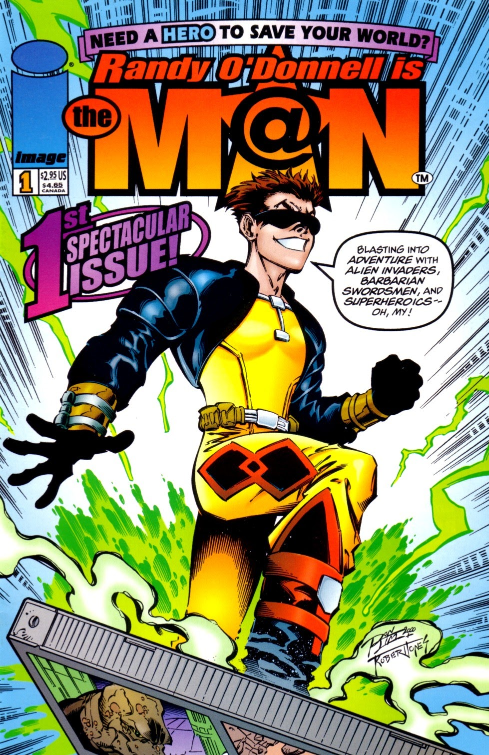 Read online Randy O'Donnell is The M@N comic -  Issue #1 - 1