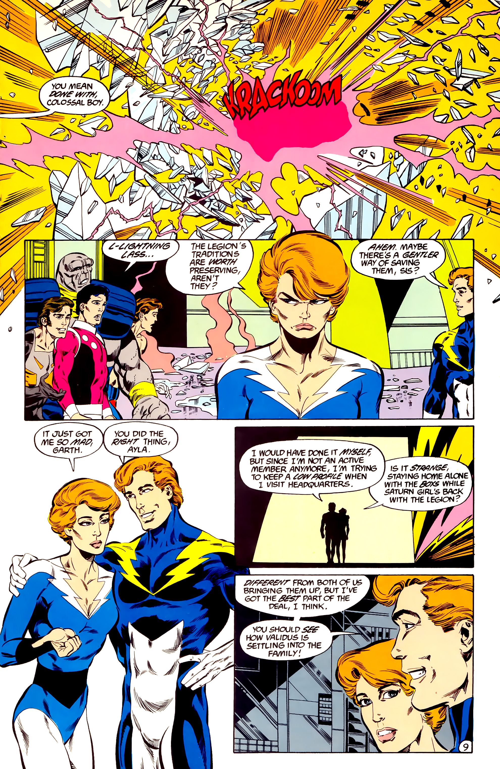 Legion of Super-Heroes (1984) 36 Page 9