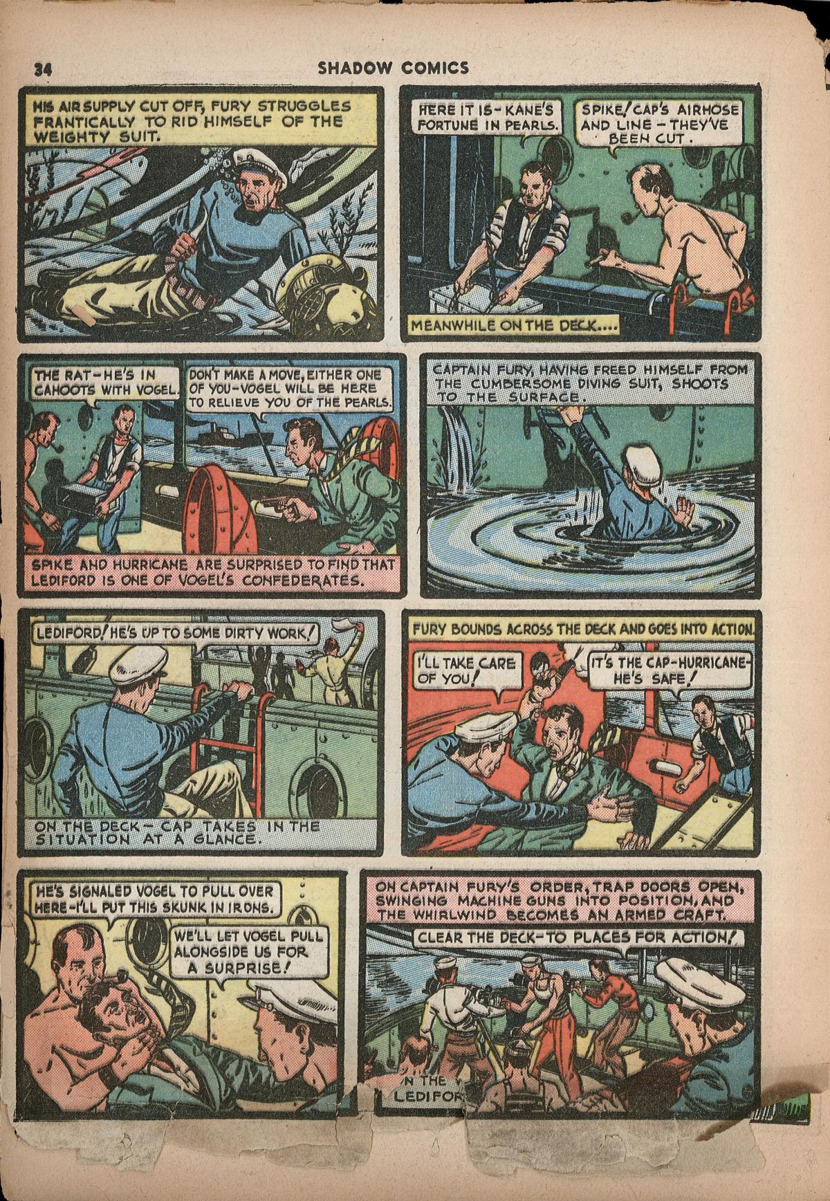 Read online Shadow Comics comic -  Issue #2 - 37