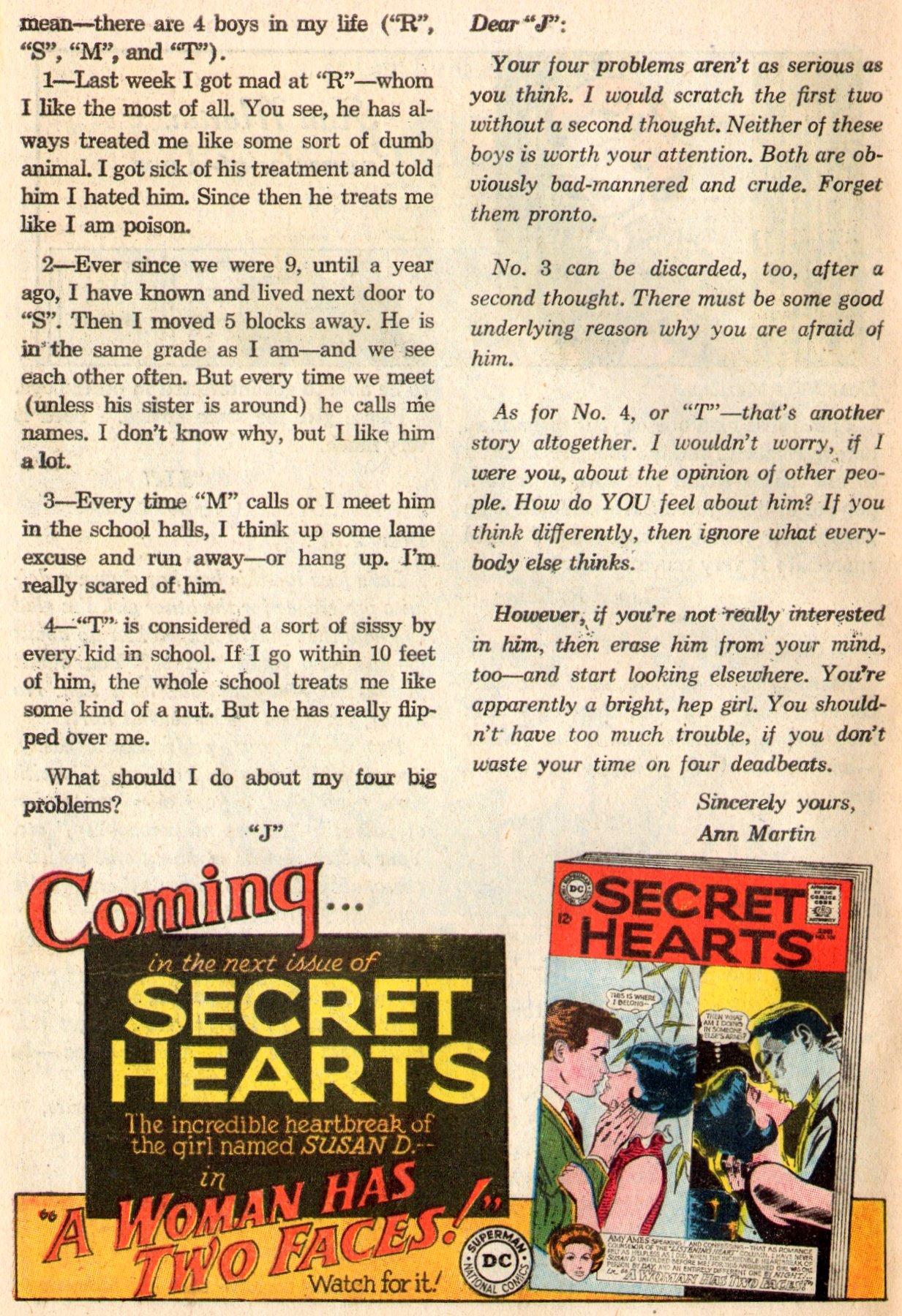 Read online Secret Hearts comic -  Issue #103 - 33